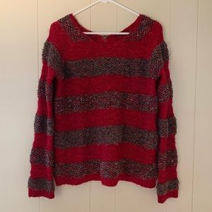 FREE PEOPLE red striped sweater